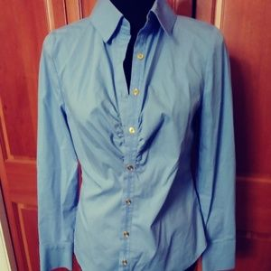 Blue Dana Buchman women's button up blouse sz 4